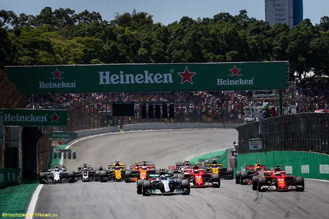 Старт прошлогоднего Гран При Бразилии