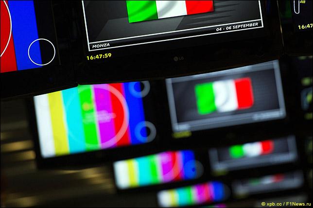 Экраны в пресс-центре