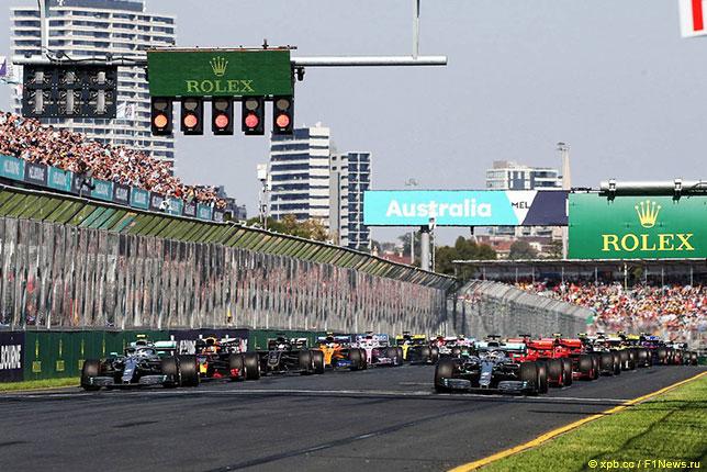 Старт Гран При Австралии 2019 года