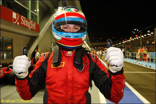 Победитель квалификации этапа GP2 в Сингапуре Лука Филиппи