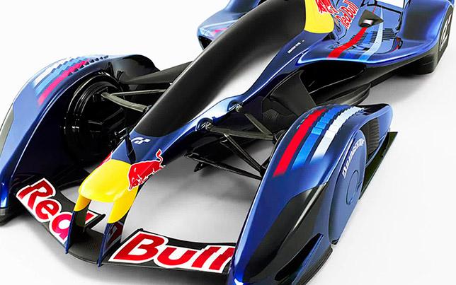Концептуальное изображение машины Формулы 1 с закрытым кокпитом