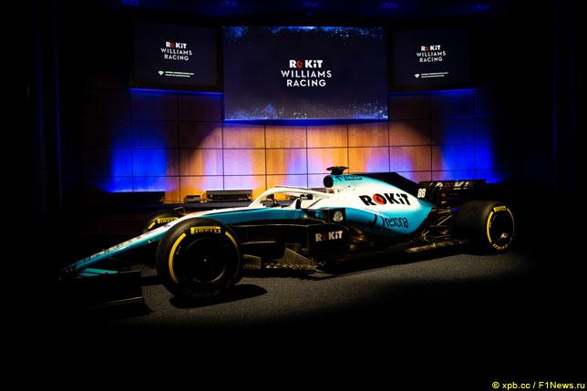 Машина Williams 2018 года в новой раскраске
