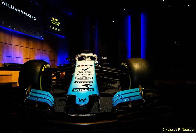 Машина Williams в новой раскраске, показанная на презентации