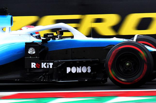 Логотип Ponos на машине Williams