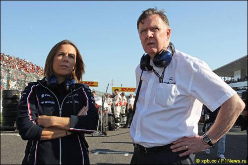 Клэр Уильямс и исполнительный директор Williams Group Майк О'Дрисколл