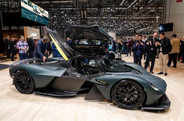 Прототип Aston Martin Valkyrie на Женевском автосалоне, фото пресс-службы Aston Martin