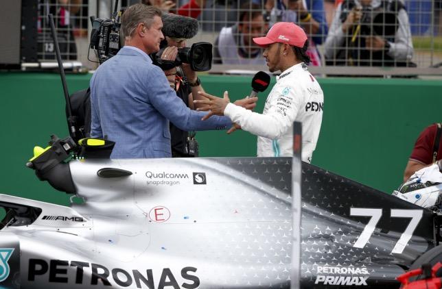 Дэвид Култхард и Льюис Хэмилтон на Гран При Великобритании 2019 года, фото HochZwei