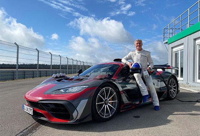 Дэвид Култхард на тестах Mercedes-AMG Project One