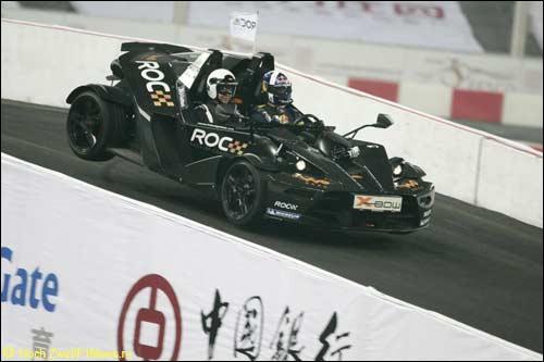 Дэвид Култхард на трассе Гонки Чемпионов, Пекин, 2009 год