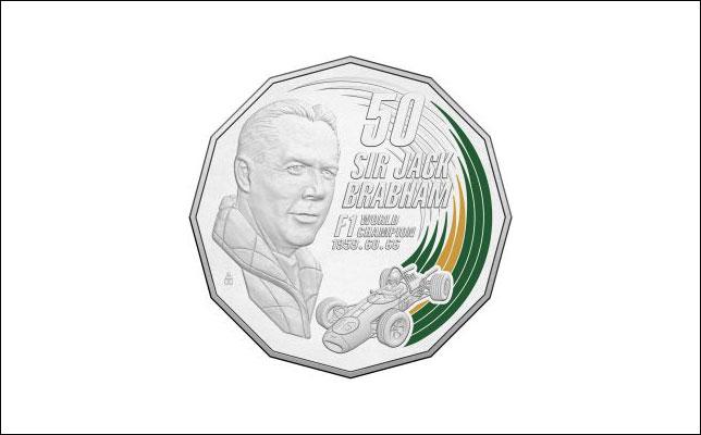 Памятная монета в честь сэра Джека Брэбэма