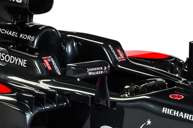 Логотипы кампании The GREAT Britain на машине McLaren