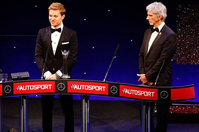 Нико Росберг и Деймон Хилл на церемонии Autosport Awards, фото Autosport