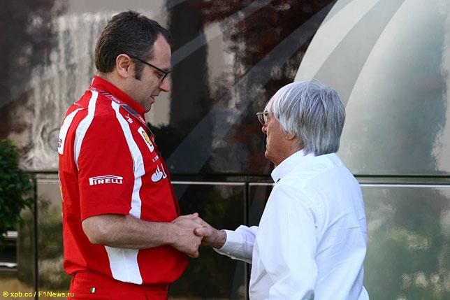 Стефано Доменикали и Берни Экклстоун на Гран При Испании 2011 года