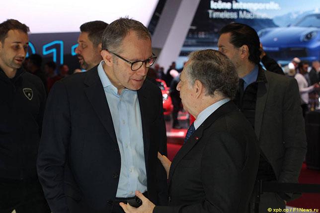 Стефано Доменикали, исполнительный директор Формулы 1, и Жан Тодт, президент FIA