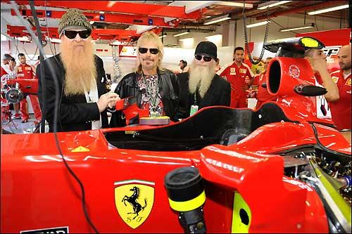 Группа ZZ Top в гостях у команды Ferrari
