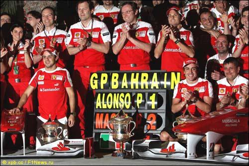 В Ferrari празднуют двойной успех