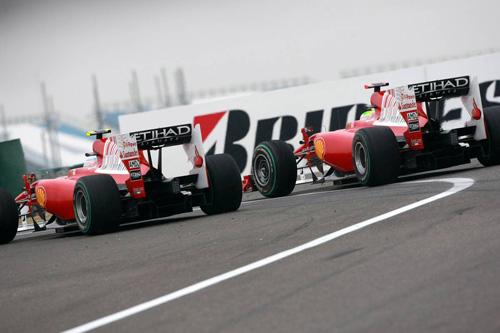 Гран При Китая. Автодром Shanghai International. Фернандо Алонсо (слева) и Фелипе Масса