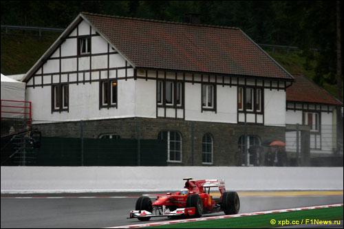 Ferrari на Гран При Бельгии 2010 года