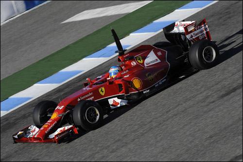 Ferraru F14 T на тестах в Хересе