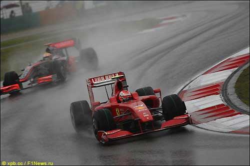 Кими Райкконен на трассе Гран При Китая