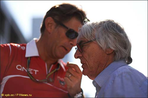 Берни Экклстоун и Грэм Лоудон, бывший спортивный директор Marussia F1