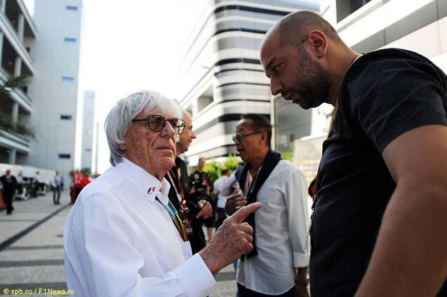 Берни Экклстоун и Жерар Лопес, совладелец и руководитель Lotus F1