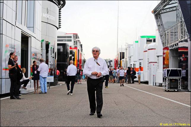 Берни Экклстоун в паддоке Гран При Германии