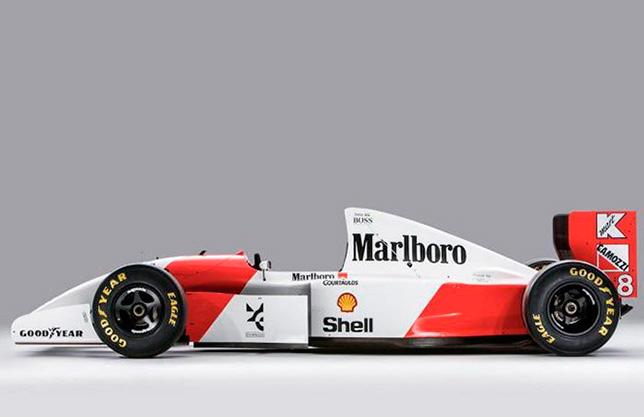 McLaren MP4/8A 1993 года. Фото Bonhams