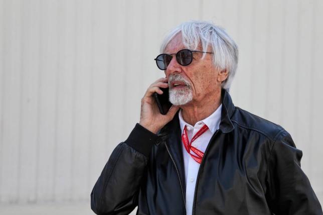 Берни Экклстоун в паддоке Baku City Circuit