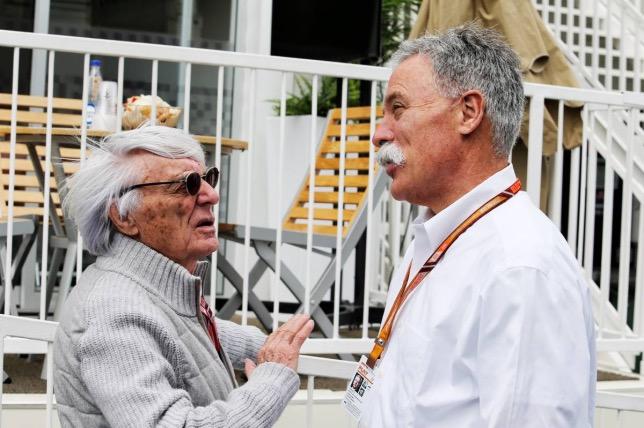 Берни Экклстоун и Чейз Кэри, исполнительный директор Формулы 1