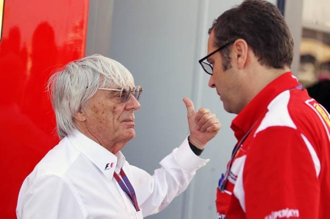Берни Экклстоун и Стефано Доменикали, 2012 год, фото XPB