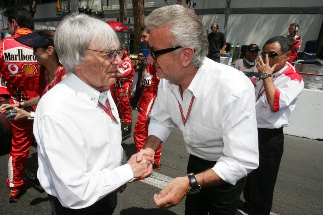 Берни Экклстоун и Вилли Вебер, Гран При Монако 2006 года, фото XPB
