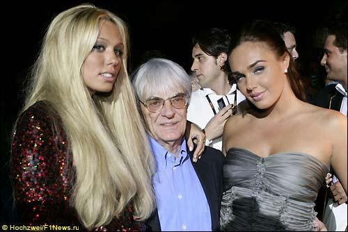 Берни Экклстоун с дочерьми. Amber Fashion Show. Монако'08