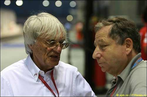 Берни Экклстоун (слева) и Жан Тодт