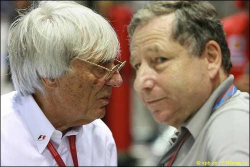 Берни Экклстоун и президент FIA Жан Тодт