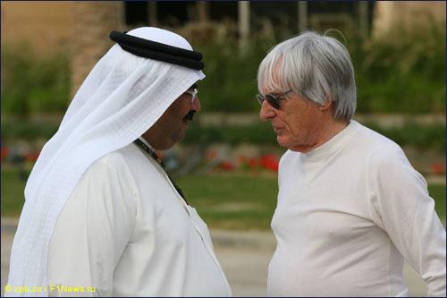 Берни Экклстоун на Гран При Бахрейна