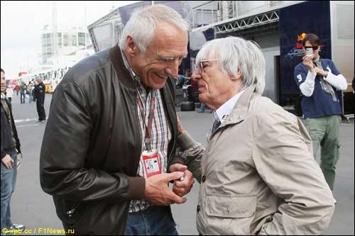 Берни Экклстоун и Дитрих Матешиц, совладелец концерна Red Bull