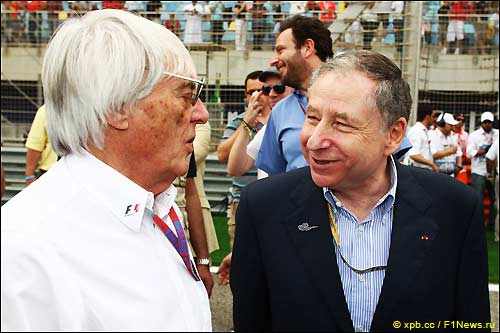 Берни Экклстоун и Жан Тодт, президент FIA