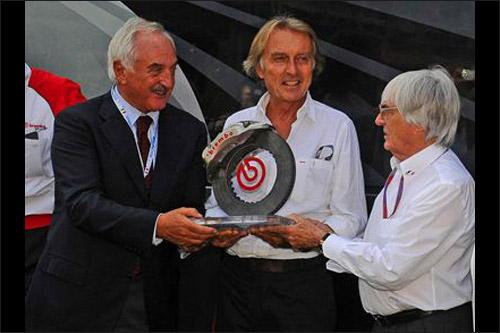 Вручение приза Bernie Ecclestone Award Луке ди Монтедземоло в Монце-2012
