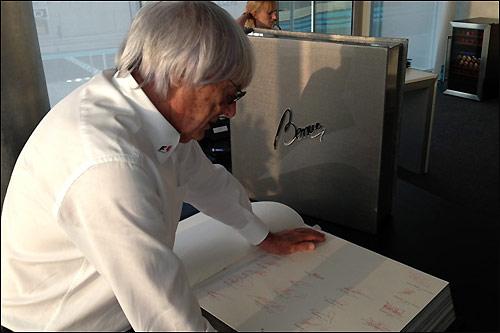 Берни Экклстоун и уникальное издание книги The Official Formula 1 Opus