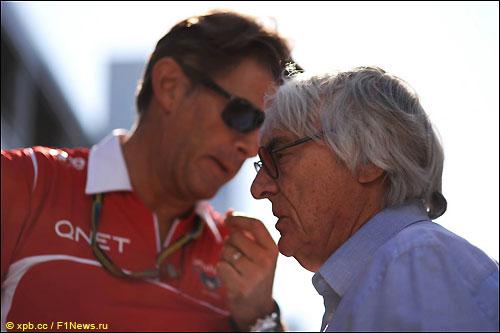 Берни Экклстоун и Грэм Лоудон, спортивный директор Marussia F1