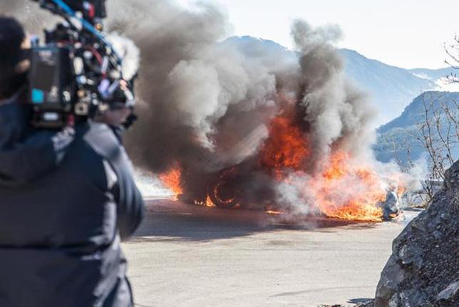 Горящий спорткар Alpine, фото Top Gear