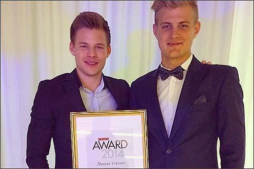 На снимке Маркус Эриксон (справа) со своим младшим братом Понтусом