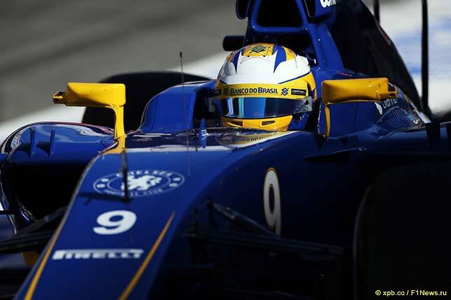 Маркус Эриксон за рулём Sauber C34 на тестах в Барселоне