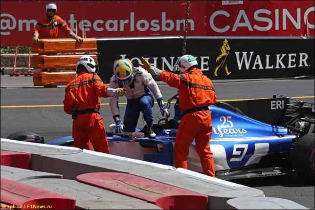 Маркус Эриксон на прошлогоднем Гран При в Баку