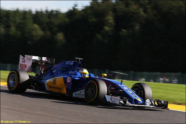 Маркус Эриксон на прошлогоднем Гран При Бельгии