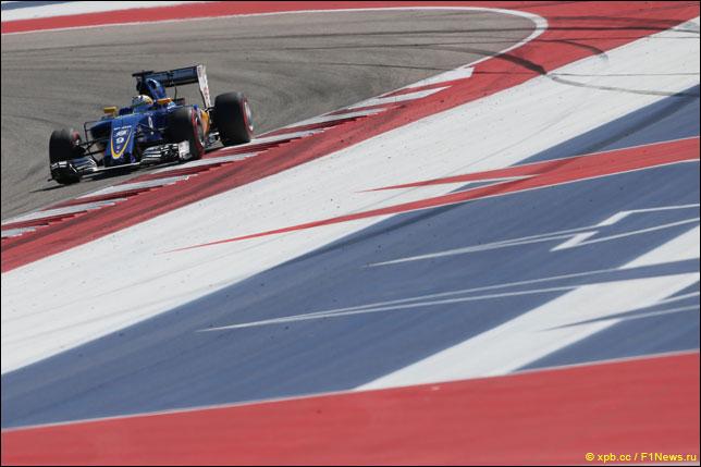 Маркус Эриксон на прошлогоднем Гран При США