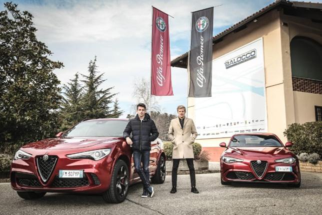 Шарль Леклер и Маркус Эриксон на полигоне Alfa Romeo в Балокко