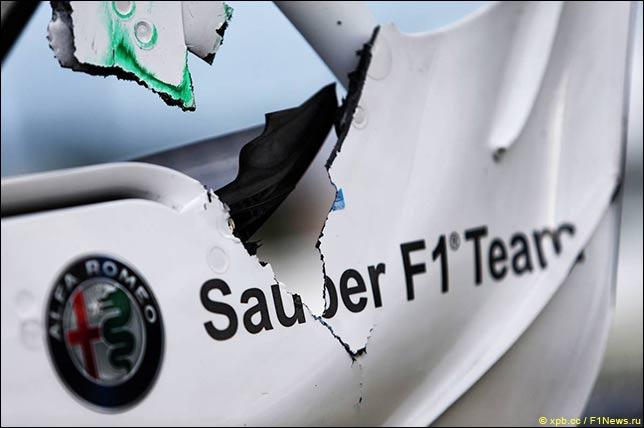 Машина Эриксона после аварии
