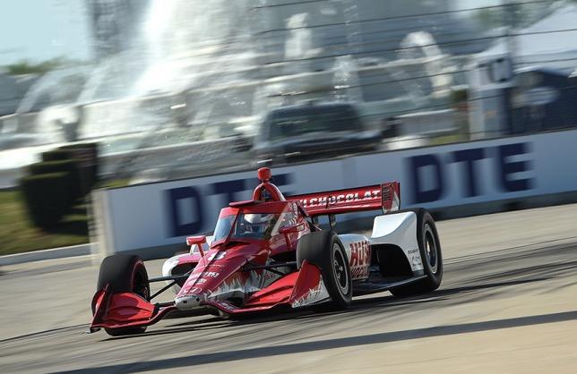 Маркус Эриксон на трассе Гран При Дейтройта